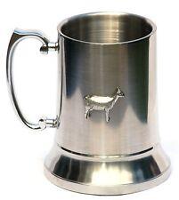 More details for goat design stainless steel pint 1 tankard beer mug jug free uk post 153