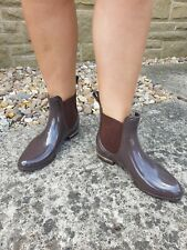 Size 5 Boots Welly Short Boots Purple Brown Smart Dealer Boot Style New