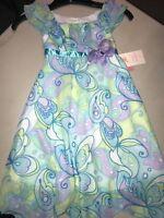 NWT Jona Michelle Girl's Sleeveless Knee Length Dress - SIZE 5