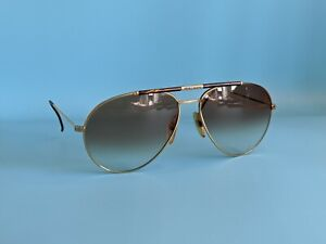 VINTAGE BOEING BY CARRERA 5706 GOLD LARGE AVIATOR SUNGLASSES AUSTRIA 63/15 #731