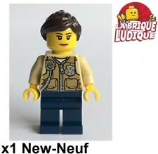 Lego - Figurine Minifig City Officer Female femme police vest veste cty548 NEUF