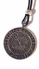 Vegvisir Viking Icelandic Magical Stave Sigil Rune Compass Cord Necklace Pendant