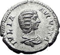 JULIA DOMNA 207AD Rome Authentic Ancient Silver Roman Coin FORTUNA Rare i61503