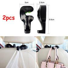 2pcs Universal Vehicle Car Back Seat Holder Hook Headrest Hanger For Bag Purse