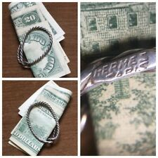 HERMES Paris Stamped STERLING Rope Money Clip BARRIE CHASE COLLECTION