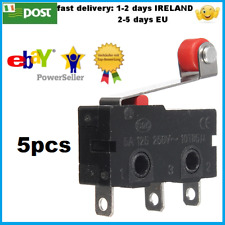 5pcs KW12-3 Micro Limit Switch Roller Lever 5A 125-250V Open/Close Switch