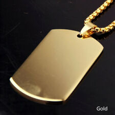 Dog Tag Stainless Steel Army ID Dog Tag Military Pendant Chain Titanium Necklace