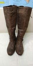 Lace Up Back Brown Boots Ladies 9 Women's NWOT Shoes Winter, Never worn