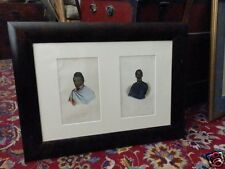 2 hand-colored prints from 1855 , African male portraits