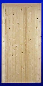 """'BUCKLAND' TIMBER SINGLE DOOR 6'6"""" High X 2'6"""" Wide"""