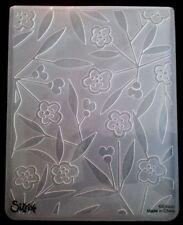 Sizzix grande carpeta de grabación en relieve flores florece matorrales se ajusta Cuttlebug 4.5x5.75in