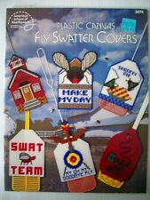 Fly Swatter covers  SWAT TEAM  SHOOFLY plastic canvas pattern 13 designs