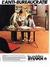 PUBLICITE ADVERTISING 064  1978  MOBILIER STRAFOR   meubles bureau