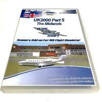 UK2000 Part 5 The Midlands Scenery Add On MS Flight Simulator 2004 PC CD-Rom