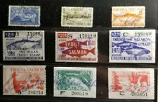 Lot of Used Michigan State Fishing Stamps