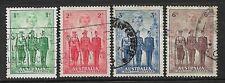 AUSTRALIA- 1940- AUSTRALIAN FORCES SET OF 4 - USED- SG 196/199- CAT £40
