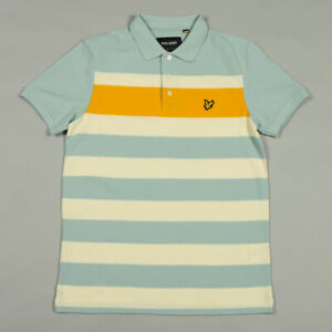 Lyle & Scott Textured Stripe Polo Shirt SP812V - Powder Blue