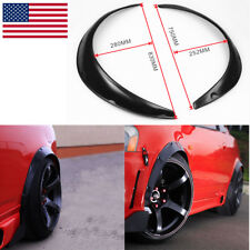 New 4pcs Universal Car Body Kits Fender Flares Flexible Durable Kit PU Black