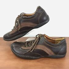 BORN Palmera Brown Leather Handcrafted Lace Up Oxford Shoes W61035 Size 6 / 36.5