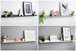Contemporary Look Lokken Photo Shelf Picture Ledge Shelf Easy To Install 120cm.