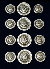 Blazer Jacket buttons circular S&C old silver plated Masonic Freemasonry