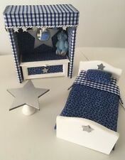 New Dressed Bedroom Set Boy Blue Star Dolls House 12th Scale