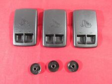 DODGE CHRYSLER Rear Seat Anchor Cover W/ Retainer Nuts Set Of 3 NEW OEM MOPAR