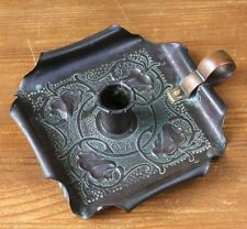 ART NOUVEAU Arts and Crafts chamberstick Copper & Brass Candle Holder c1900