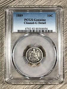 1889 Seated Liberty Dime PCGS Graded