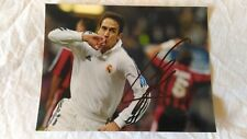 RAUL HAND SIGNED PHOTO WEARING THE REAL MADRID JERSEY AUTOGRAPH