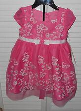 Jona Michelle New Pink Flower Dress Size 12 Months NWT