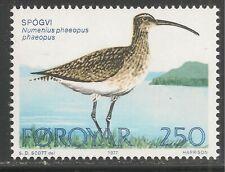 Faroe Islands #30 (A9) Vf Mnh - 1977 250o Whimbrel Bird