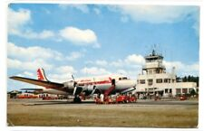 Grand Rapids Airport Plane Kent County Michigan postcard