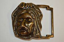 Vintage Face GOD Within OM Sacred Sound HINDU Brass Tone Belt Buckle MEDITATION