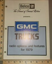 1979 GMC Truck Radio Options and Features Guide Brochure
