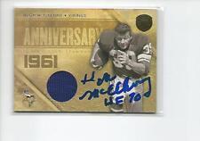 HUGH McELHENNY Autographed Signed 2011 Panini JERSEY card Vikings 49ers