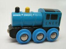 Authentic Brio Wooden Train Big Blue Engine - Thomas the Train