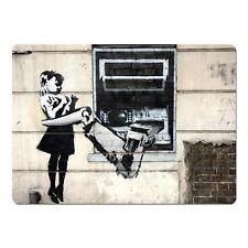 "Banksy Art Cash Machine Girl Mini 5"" x 7"" Metal Sign"