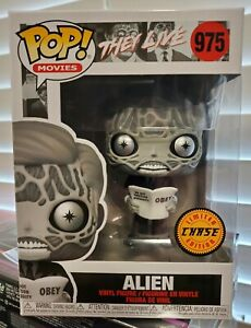 Funko Pop! They Live - Alien Black and White #975 Limited Edition CHASE