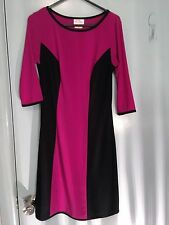 Leona Edmiston Ruby dress in black and pink in size XS