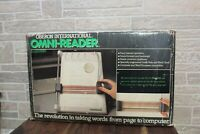 Vintage Oberon International Omni Reader Computer Scanner - Untested