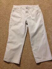 Women's Tommy Hilfiger Size 12 Jean Style Beige Capri Pants