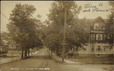 Medford Hillside MA Winthrop St. Homes c1910 Real Photo Postcard