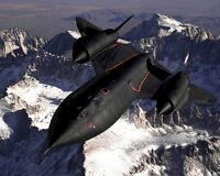 New 8x10 Photo: SR-71 Blackbird Fighter Jet Aircraft, Sierra Nevada Mountains