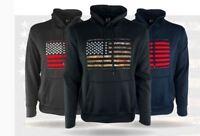 Men's USA American Flag Hoodie Sweatshirt - Various Sizes & Colors