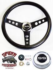 "1966 Malibu Chevelle steering wheel SS CLASSIC BLACK 13 1/2"" Grant wheel"