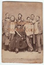 RARE - CDV Photo - French? Canada? Military Officers / Soldiers in Uniform 1860s