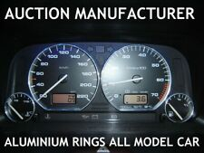 Seat Ibiza 1993-2002 Chrome Gauge Trim Dial Rings Polished Alloy New x4