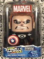 "Hasbro 2017 Marvel Mighty Muggs, ""Captain America"" The Avengers Vinyl Figure NEW"