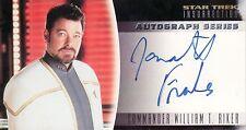 Star Trek Insurrection Jonathan Frakes / Willaim T. Riker A2 Auto Card